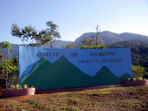 Development Sign at Vistas de Chirripo